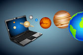 Technical Universe — Stock Vector