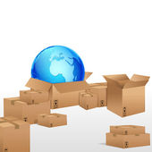 Global Cargo — Stock Vector