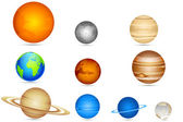 Set of Planets — Stock Vector