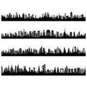 Set of Cityscape — Stock Vector