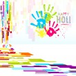 Holi Wallpaper — Stock Vector #22229591