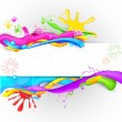 Colorful Splash in Holi Wallpaper - Stock Vector