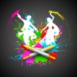 Couple Playing Holi - Stock Vector