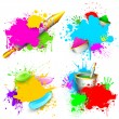 Holi Background - Stock Vector