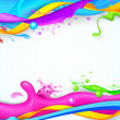 Colorful Splash in Holi Wallpaper — Stock Vector #22307591