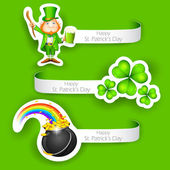 Saint Patrick's Day Label — Stock Vector