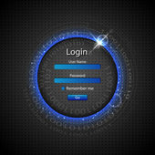Loginpagina — Stockvector