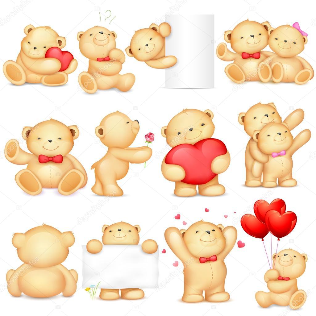 玩具熊 — 图库矢量图像08
