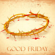 Good Friday Background with Crown of Thorns - Stock Vector