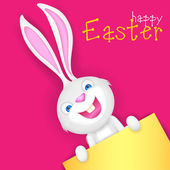 Easter bunny holding Blank Board — Stock Vector
