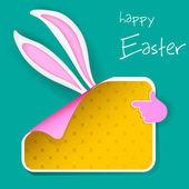 Easter Bunny Banner — Stock Vector