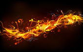 Fiery Music — Stock Vector