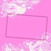 Carte floral — Vecteur