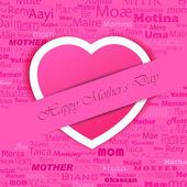 Feliz dia das mães — Vetor de Stock
