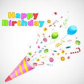 Explosión de cumpleaños — Vector de stock