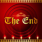 The End Screen with Film Strip — Stock Vector