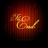 The End on Curtain — Stock Vector