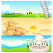 Stock Vector: Travel Banner