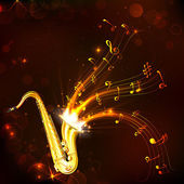 Music Tune from Saxophone — Stock Vector