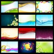 Vector Background Collection — Stock Vector