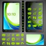 Mobilephone Theme — Stock Vector #25260287