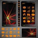 Mobilephone Theme — Stock Vector