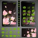 Mobilephone Theme — Stock Vector #25263401