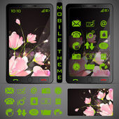 Mobilephone Theme — Vector de stock