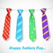Stock Vector: Tie in Father's Day Card