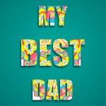 My Best Dad — Stock Vector