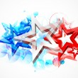 Abstract American Flag Background — Stock Vector
