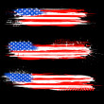 Grungy American Flag Banner — Stock Vector #26305303