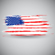 Grungy American Flag Background — Stock Vector