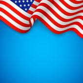 Wavy American Flag — Stock Vector