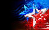 抽象的美国国旗背景 — 图库矢量图片