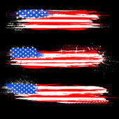 Bannière drapeau américain grungy — Vecteur