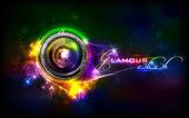 Lente da câmera — Vetor de Stock