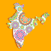 Colorful India — Stock Vector
