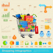 Shopping Infographics — Stok Vektör