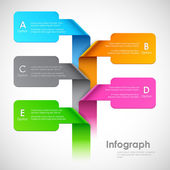 Infographics Options Banner — Stock Vector
