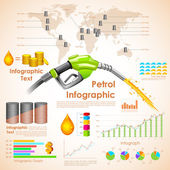 Petroleum Infographic — Stock Vector