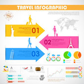 Travel Infographic — Stock Vector