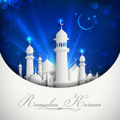 Eid mubarak fondo — Vector de stock