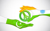 Peace between India and Pakistan — Stock Vector