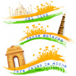 Banner and Header for India Celebration — Stock Vector #29436367