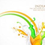 coloridos do tricolor da Índia — Vetorial Stock