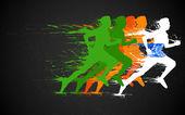 Kızılderili koşucu — Stok Vektör