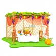 Stock Vector: Sukkah for celebrating Sukkot