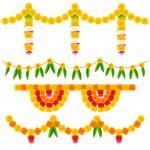 Colorful Flower Decoration Arrangement — Stock Vector #30496475