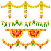 Colorful Flower Decoration Arrangement — Stock Vector